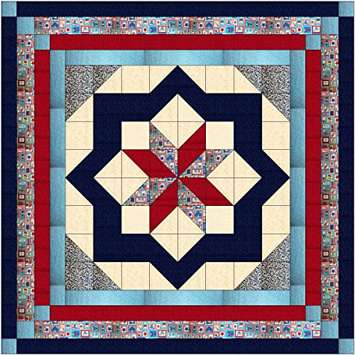 Easy Quilt Kit Constellation/Patriotic/Queen/EXPEDITED SHIPPING by MDG & Riley Blake