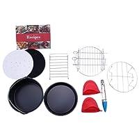 SODIAL Air Fryer Accessories Set of 10 pcs, Fit All Standard Air Fryer 3.7QT- 5.3QT- 5.8QT, 7 Inch