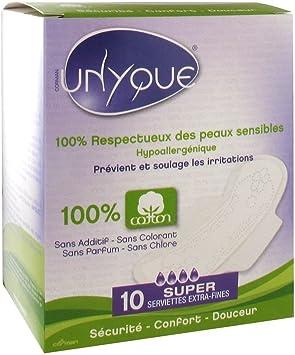 UNYQUE Compresas Algodon Puro 100% - Previene Irritaciones ...