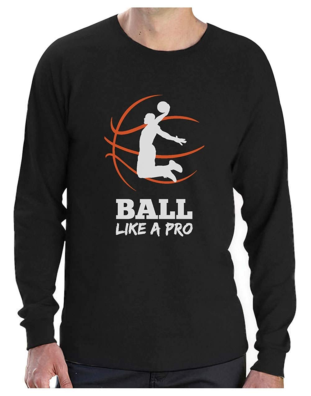 Camiseta de Manga Larga para Hombre- Baloncesto Regalos Originales ...