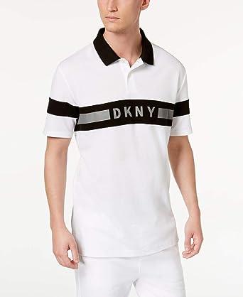 DKNY - Polo de rugby para hombre (talla grande), diseño a rayas ...