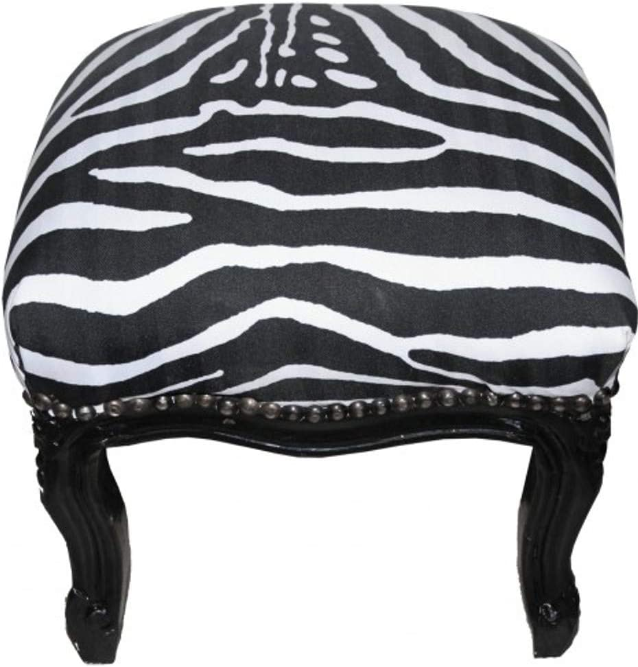 Hocker Casa Padrino Barock Fu/ßhocker Zebra//Black Antik Stil M/öbel