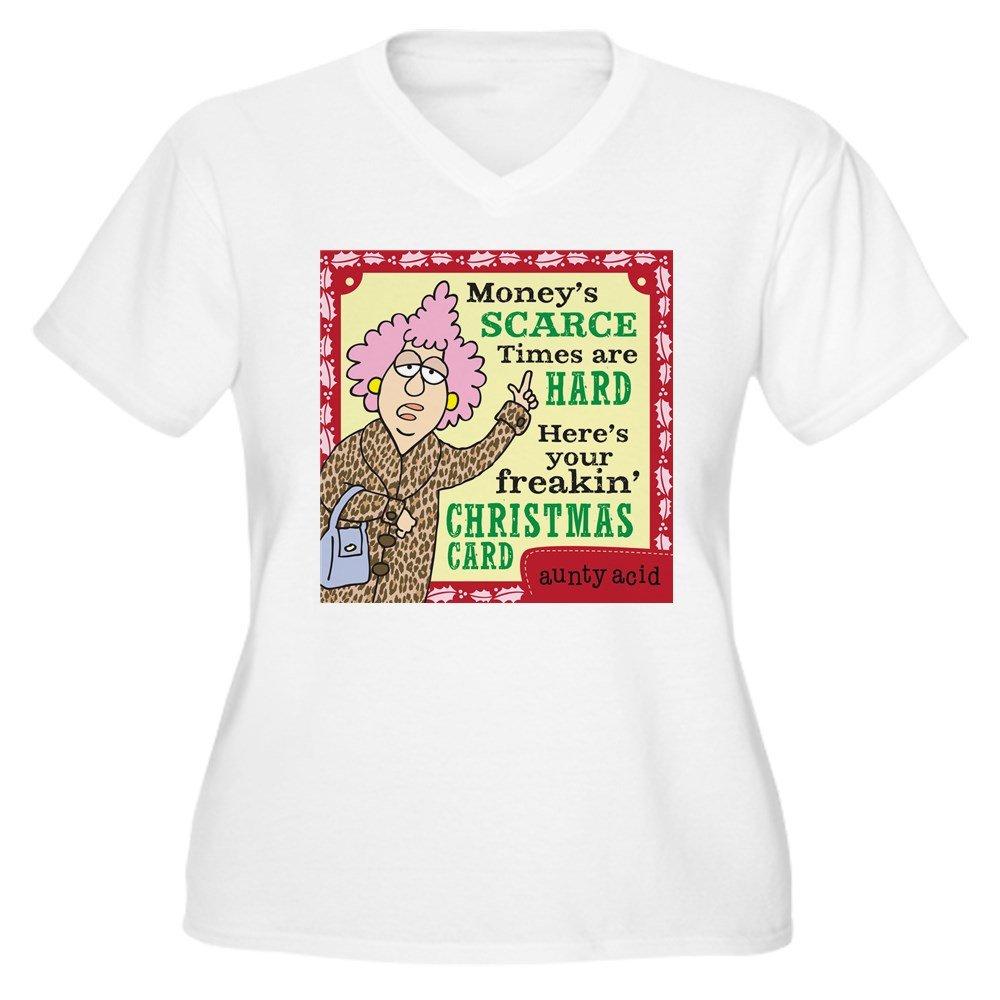8b995bd082f Amazon.com  CafePress - aunty acid christ Women s Plus Size V-Neck T-Shirt  - Women s Plus Size V-Neck T-Shirt  Clothing