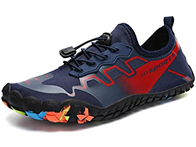 8538f2be2c2cc GJRRX Chaussures Aquatique pour Homme Femme Chaussons de Plage de d eau  avec Lacets Autobloquants