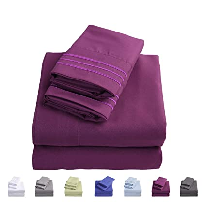 Amazon.com: Emonia Twin XL Sheets Set   4 Pieces Bed Sheets