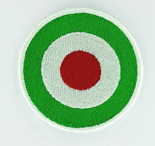 Patch Aufnäher bestickt Flagge zum Aufbügeln Lambretta Target Italien Italy Italia