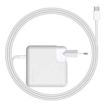 SkyGrand 61W USB C Cargador Adaptador de Corriente para Apple MacBook Pro, Funciona con 29W / 61W Macbook y Macbook Pro DE 13 Pulgadas con Puertos ...