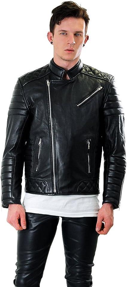 Bockle® Fashion Lederjacke Schwarze Lamm Lederjacke für