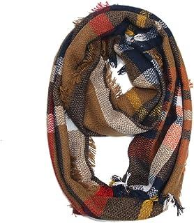 Women's Plaid Blanket Winter Scarf Cashmere Grid Warm Tartan Wrap Classic Shawl Scarves Cape*/*/* douhuayu