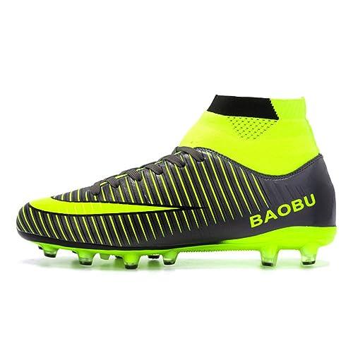 LANSEYAOJI Zapatos de fútbol Hombre Niños AG Spike Profesionales Botas de  Fútbol Aire Libre Atletismo Zapatos de Entrenamiento Unisex Adultos  Adolescent ... 5d065dc10fa9a