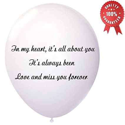 memorial balloons biodegradable white funeral remembrance helium balloons for memory releases bereavement condolence