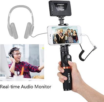Comica CVM-WS50 - Micrófono inalámbrico con UHF 6 canales, soporte ...