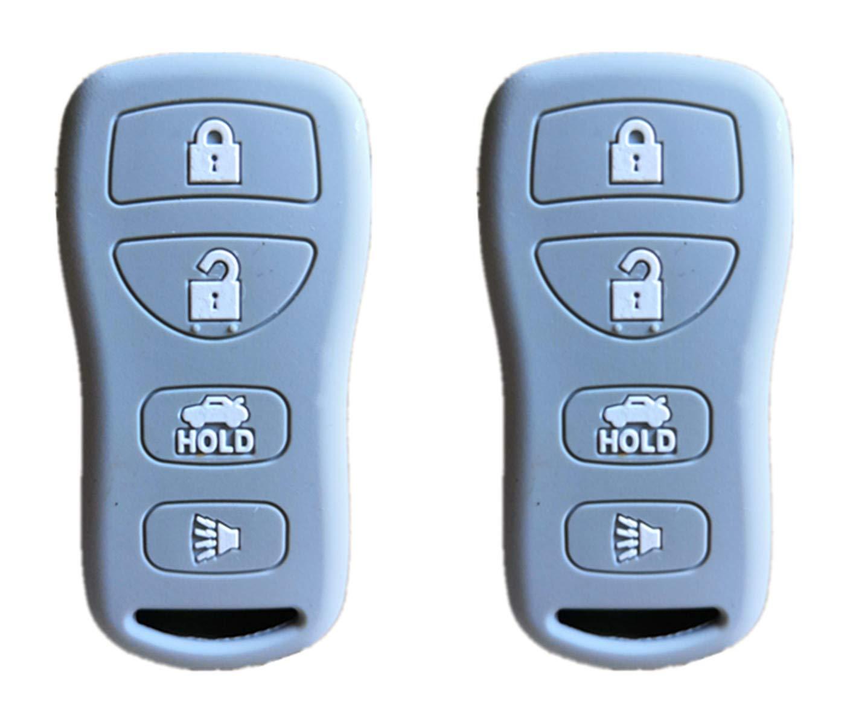 KAWIHEN Silicone Protector Cover Fit for Nissan 350Z Altima Armada Maxima Murano Pathfinder Sentra Versa Quest Infiniti EX35 FX35 FX45 G35 I35 Q45 QX56 KBRASTU15 CWTWB1U758 CWTWB1U733 CWTWB1U821