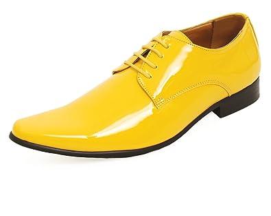 993cd3e950562f Dobell Moderne Gelbe Lackschuhe-41  Amazon.de  Schuhe   Handtaschen