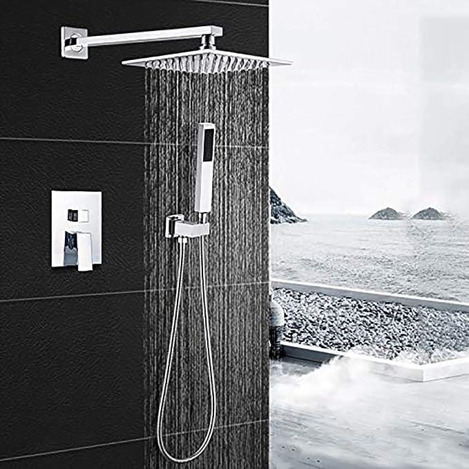 Conjunto de ducha de pared empotrada de ducha de cobre completo ...