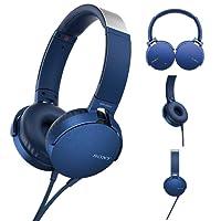 Fone De Ouvido Original Sony MDR-XB550AP Azul