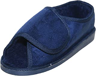 Surf 4 Shoes Mens Ladies Very Wide Fitting Touch Fastening Memory Foam Insole Slippers