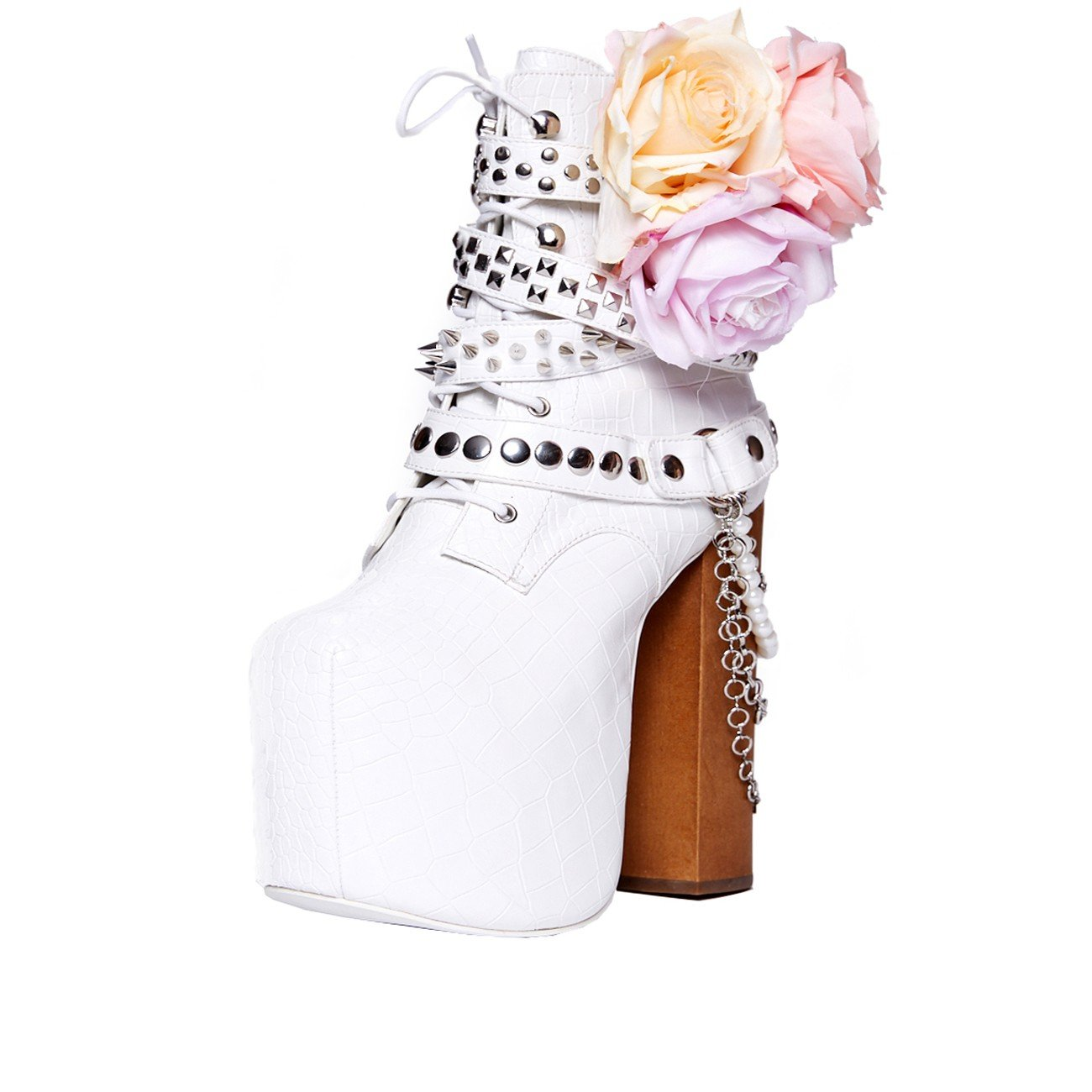 Charla Tedrick 'Diamonds and Guns', Platform Wedding Boot, 6