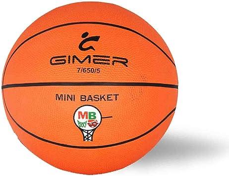 GIMER Balón de Baloncesto y Mini Basket Ball Official Size ...