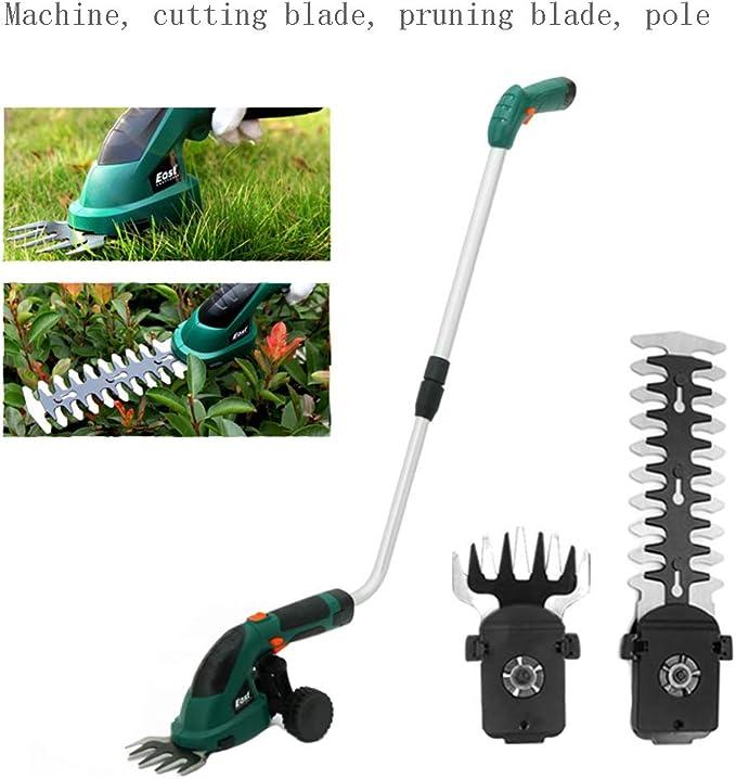 MYFGBB Desarmadora inalámbrica 7.2V 2 en 1, desbrozadora eléctrica, cortadora de césped Gardener 2 Mango telescópico de Hoja Intercambiable y Accesorio de Rueda pequeña,C: Amazon.es: Hogar