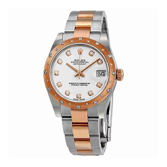 Rolex 178341WDO - Reloj de pulsera para mujer con esfera de diamante blanco Datejust 31 de