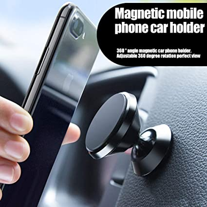 Magnetic Phone Car Mount Cell Phone Car Kits Thin Blue Line Universal Car Phone Holder for Dashboard 360/° Adjustable Magnet Cell Phone Mount Compatible Silvery