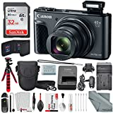 Canon PowerShot SX730 HS Digital Camera (Black) Deluxe Bundle w/32 GB+ Xpix TableTop Tripod,+ Traveling Charger+ Xpix Cleaning Kit