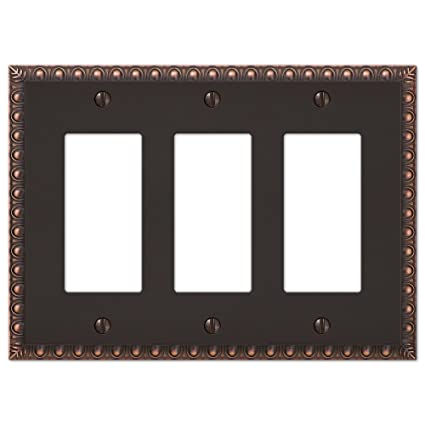 3 Gang Rocker Decorator Gfi Switch Plate Wall Plate Cover Oil