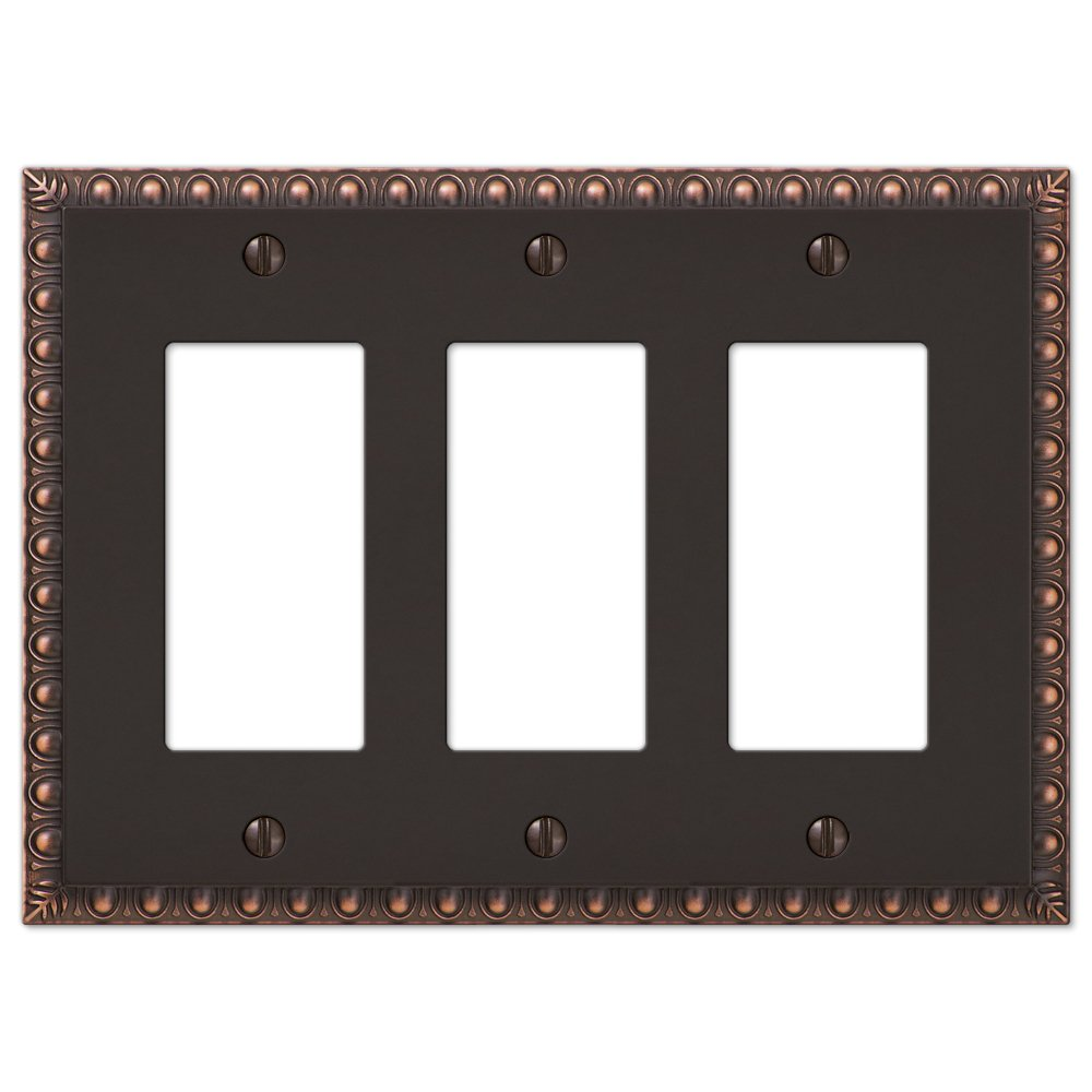 3-Gang Rocker Decorator GFI Switch Plate Wall Plate Cover, Oil Rubbed Bronze by Wholesale Plumbing