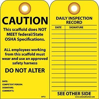 NMC svt2 etiqueta de prevención de accidentes,