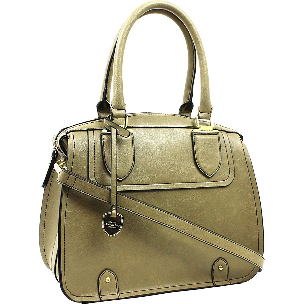 London Fog Handbags Kensington Satchel Olive Handbags Amazon Com
