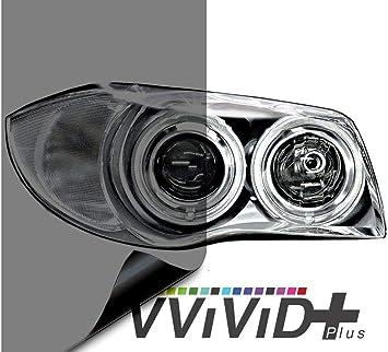 VViViD Air-Tint Headlight//Tail Light Window Tint 12 x 48, Dark Black