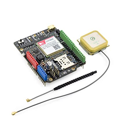 SIM7000C NB-IoT/LTE/GPRS/GPS Expansion Shield for Arduino with GSM Spring  Antenna and GPS Internal Antenna
