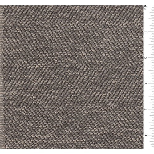 Slate Brown/Gray Herringbone Boucle Home Decorating Fabric, Fabric By the Yard