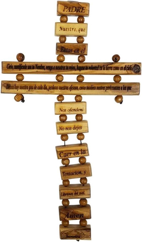 Betlemme regali TM in legno di ulivo padre in cielo preghiera del Padre Hanging Cross Italian 9