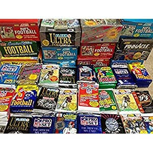 100 Vintage Football Cards in Old Sealed Wax Packs Perfect for New Collectors