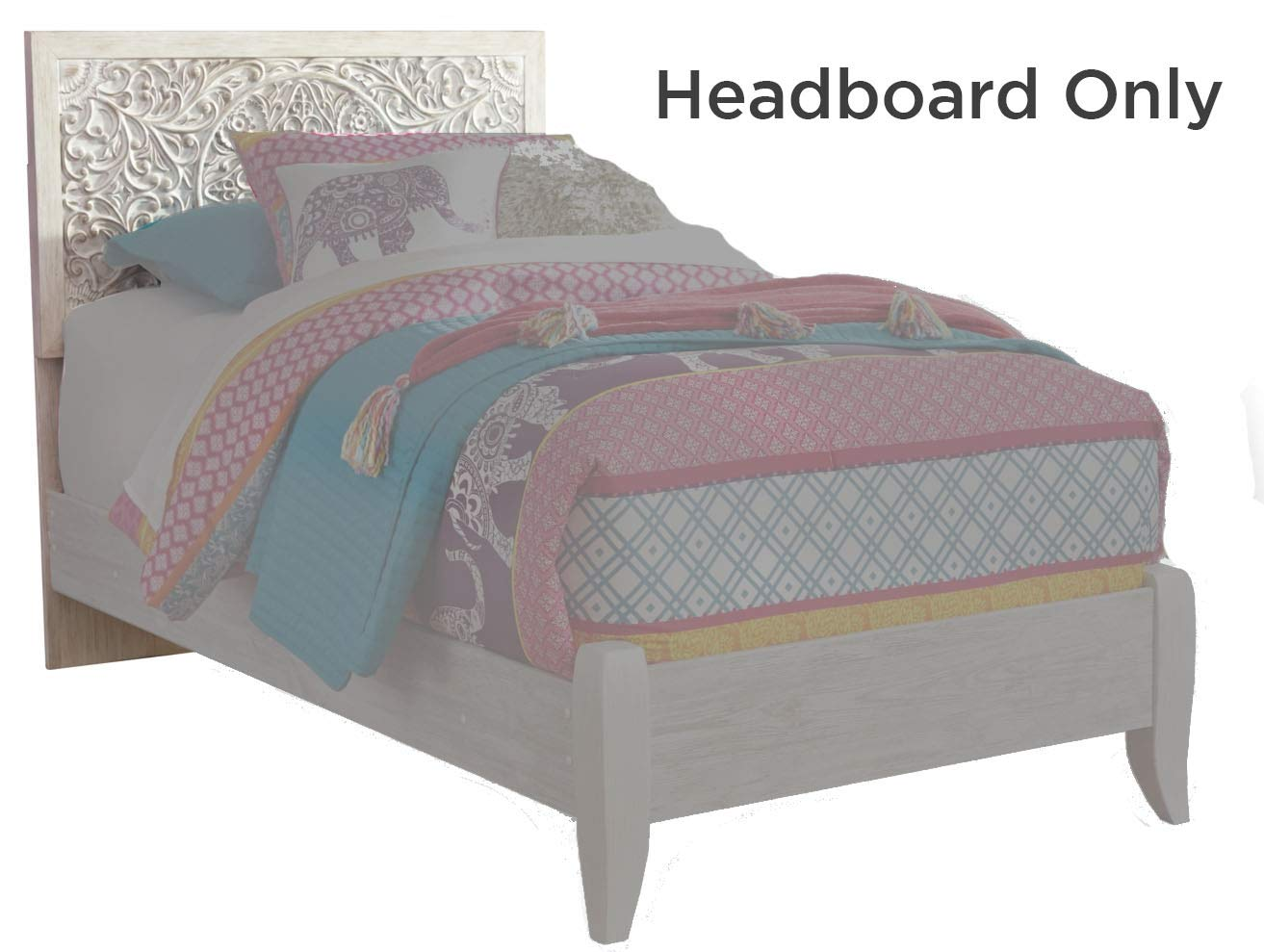 Signature Design by Ashley B181-53 Paxberry Twin Panel Headboard White Wash by Signature Design by Ashley