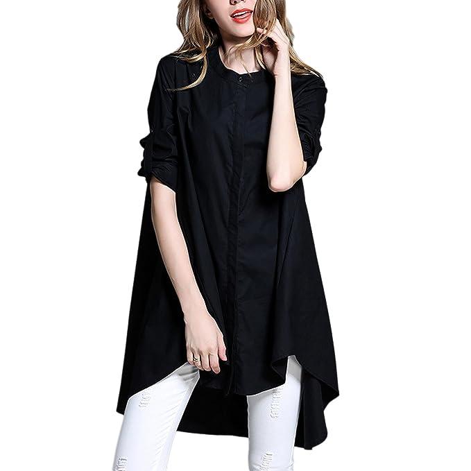 QQI mujeres Boho Retro de gran tamaño del dobladillo del vestido ocasional informal Maxi vestidos Vintage