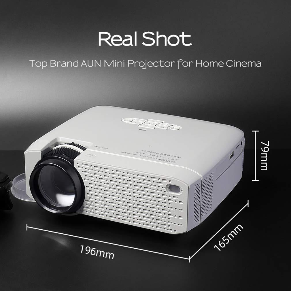 HWUKONG Mini proyector, AUN LED DracoLight, Video Beamer para Home ...
