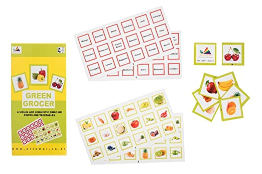 Prism EDUTIVES Green Grocer - Pictorial Bingo ON Fruits and Vegetables