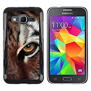Stuss Case / Funda Carcasa protectora - Eye Feline Tiger Fur Cute Cat Big Animal - Samsung Galaxy Core Prime SM-G360
