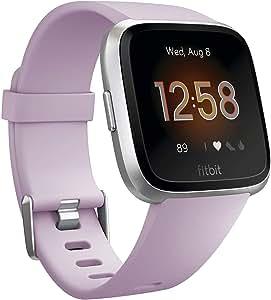 Fitbit FB415SRLV Versa Lite Smartwatch, Lilac/Silver