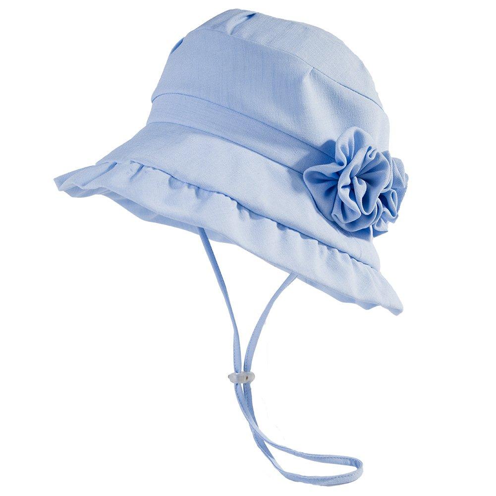 9a2d6c5b9be Amazon.com  Siggi Bucket Boonie Cord Short Brim Flower Accent Hat Summer UV  Cap for Women Blue  Clothing