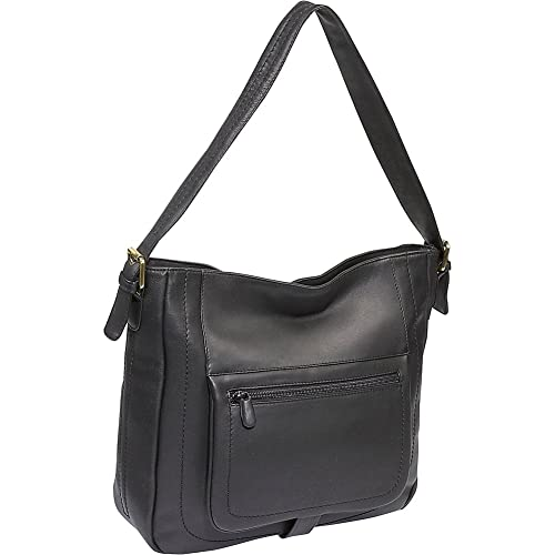 Derek Alexander Leather Large Top Zip Shopper Bag - Black and Brown ... e779ff4eff0f9