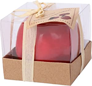 Lipiny Emulational Apple-Shaped Fragrant Candle Christmas' Eve Party Gifts Big Size New