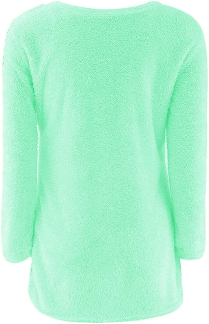 Mchoice Womens Casual Solid Long Sleeve Jumper Sweaters Blouse