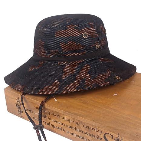 LOPILY Sombrero de Camuflaje de Verano Sombrero de Pescador al ...
