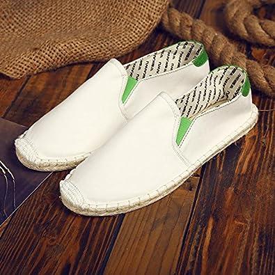 YFF Rein handgemachte Canvas Schuhe und Stroh Bettwäsche schuhe Paare Freizeit Schuhe des Alten Peking, 44, S 165 mesh Schwarz