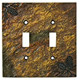 Big Sky Carvers 30170450 Pinecone Double Switch Plate offers