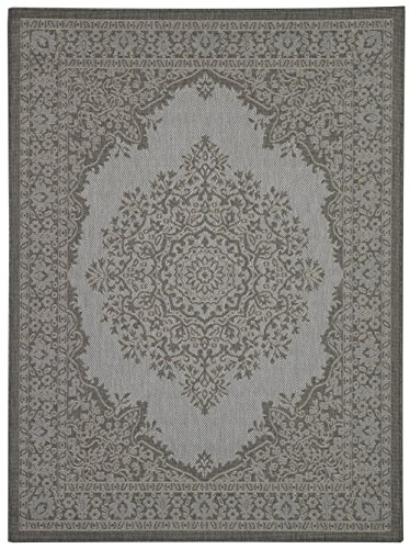 Ottomanson Jardin Collection Oriental Indoor/Outdoor Jute Backing Area Rug X, 5'3